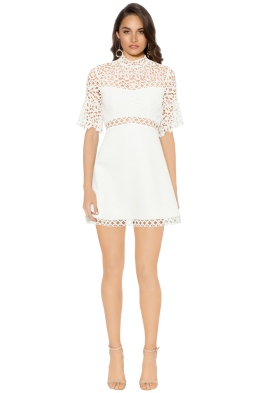Keepsake - Uplifted Mini Dress - Ivory - Front