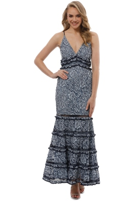 Keepsake The Label - Catch Me Lace Gown - Blue - Front
