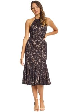 Keepsake the Label - Dreamers Lace Midi Dress - Black - Front