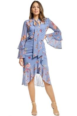 Keepsake the Label - Evolve Top and Skirt Set - Blue Floral - Front