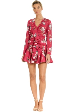 Keepsake the Label - For Me LS Dress - Magenta Floral - Front