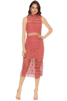 Keepsake - Stay Close Lace Dress - Paprika - Front