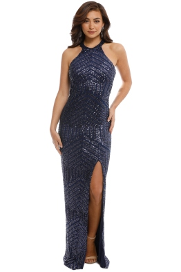 Langhem - Julia Evening Gown - Navy - Front