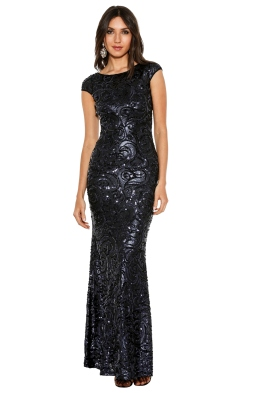Langhem - Katia Gown - Front - Midnight Blue