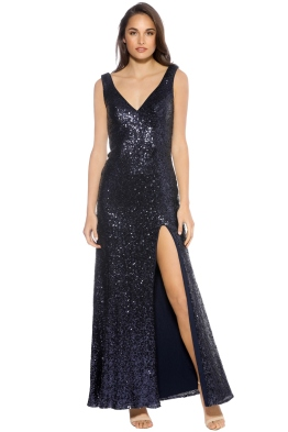 Langhem - Love on Top gown - Navy - Front