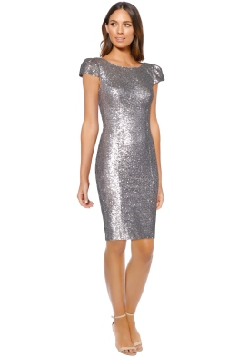 Les Demoiselle - Amara Sequin Dress - Pewter - Side