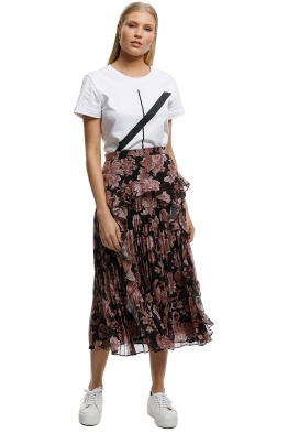 Lover-Florence-Pleat-Midi-Skirt-Cocoa-Front