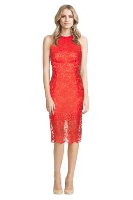 Lover - Lula Halter Dress - Red - Front