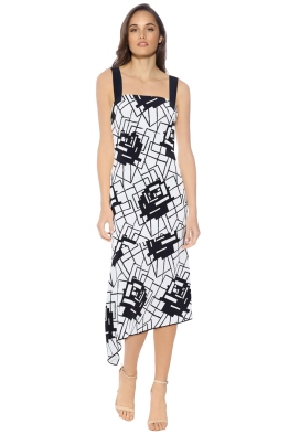 Manning Cartell - Geometry Rules Dress - Black White - Front