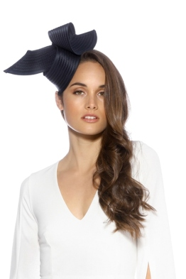 Max Alexander - Heather Fascinator - Navy - Front