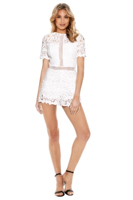 Ministry of Style - Lush Lace Playsuit - Ivory - Front