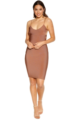 Misha Collection - Jazlyn Bandage Dress - Bronze - Front