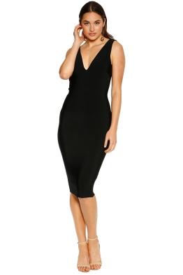 Misha Collection - Solange Bandage Dress - Black - Front