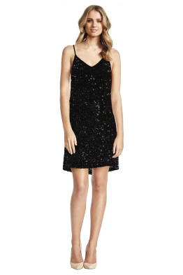 MLV - Olivia Mini Sequin Dress - Front - Black