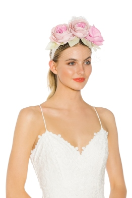 Morgan and Taylor - Camilla Fascinator - Pink - Side Model
