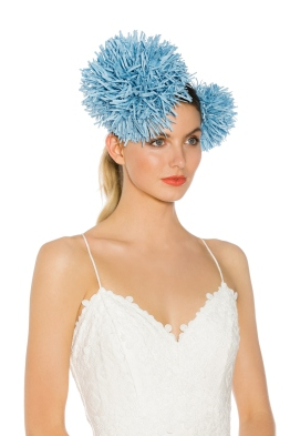 Morgan and Taylor - Carmen Fascinator - Blue - Side Model