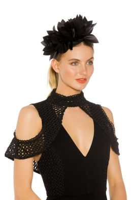 Morgan and Taylor - Courtney Fascinator - Black - Side Model