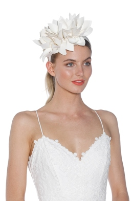 Morgan and Taylor - Courtney Fascinator - White - Side Model