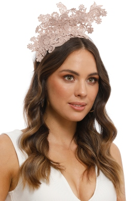 Morgan and Taylor - Leandrea Fascinator - Dusty Pink - Side Model