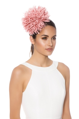 Morgan and Taylor - Sophia Fascinator - Pink - Side Model