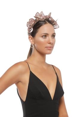 Morgan & Taylor - Jasmine Fascinator - Metallic Rose - Side Model