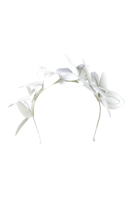 Morgan & Taylor - Lavina Fascinator - White - Front