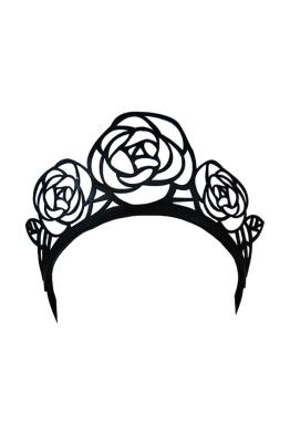 Morgan & Taylor - Leather Laser Cut Rose Crown