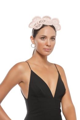 Morgan & Taylor - Verona Fascinator - Nude - Side Model