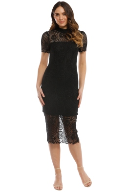 Mossman - Making The Connection Dress - Black - Front