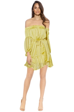 Mossman - The Liar Liar Dress - Yellow - Front