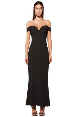 Mossman - The Wondering Eye Dress In Black - Front