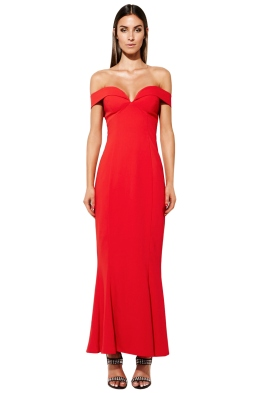 Mossman - The Wondering Eye Dress In Red - Front