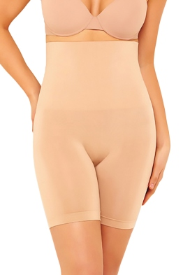 Nancy Ganz - Taupe Seamless Bike Short - Nude - Front
