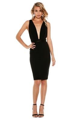 Natalie Rolt - Mila Mini Dress - Black - Front