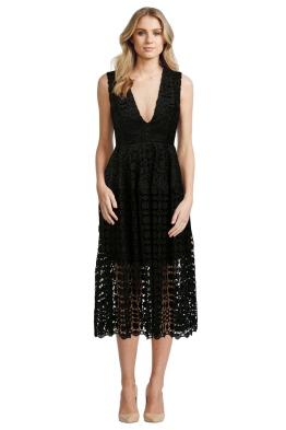 Mosaic Lace Ball Dress - Black - Front