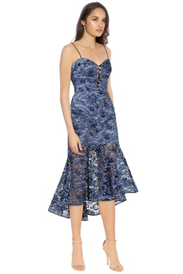 Nicholas - Whisper Lace Midi Dress - Black Blue - Side