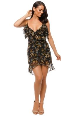 Nicholas The Label - Ava Floral Wrap Dress - Black Floral - Front