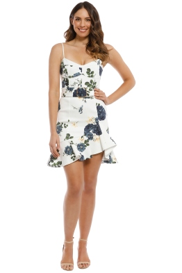 Nicholas the Label - Blue Rose Frill Dress - Ivory - Front