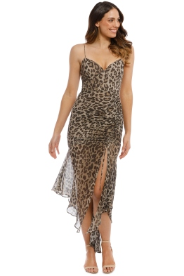 Nicholas The Label - Leopard Drawstring Dress - Print - Front