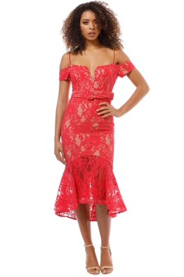 Nicholas the Label - Rubie Lace Corset Dress - Watermelon - Front