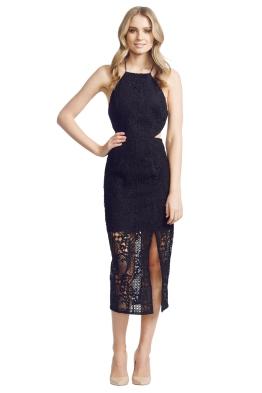 NicholasTheLabel - Fleur Lace Bross Back Dress - Front - Black