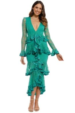 Nicola Finetti - Maia Dress - Green - Front