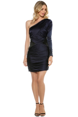 Nicola Finetti - Asymmetric Ruffle Dress - Front