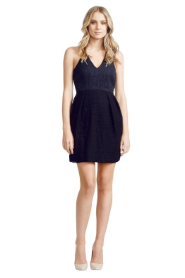 Nicola Finetti - Pleated Black Dress - Front - Black