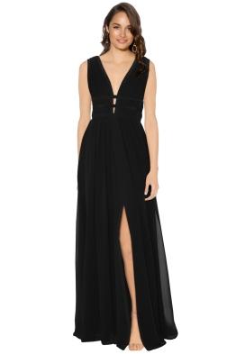Nicole Miller - Gladiator Silk Gown - Black - Front