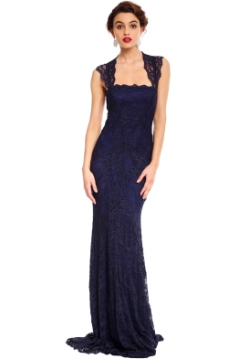 Zaria Lace Gown - Navy