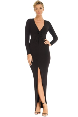 Nookie - Black Wrap Dress - Black - Front