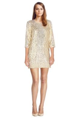 Parker Black Petra Dress - Front - Gold