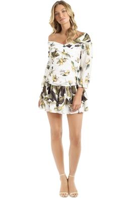 Pasduchas - Spritzer Splice Dress - Ivory - Front