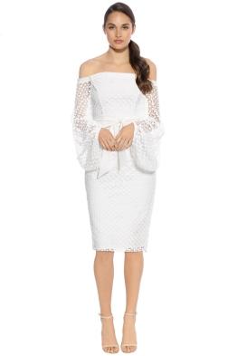 Pasduchas - Floozy Sleeve Midi Dress - White - Front